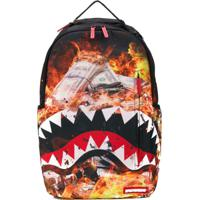 Sprayground Mochila Fire Money Shark - Preto