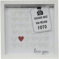 "Painel Fotogrã¡Fico ""Love You""- Branco & Vermelho- 22Kapos"