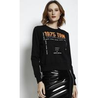 """Blusã£O """"1975 Trn""""- Preto & Branco- Tritontriton"""