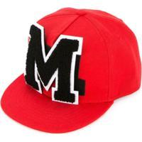Msgm Kids Boné Com Logo - Vermelho