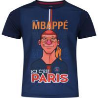 Camiseta Psg Mbappé Bomache - Infantil - Azul Escuro