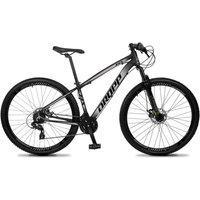 Bicicleta Aro 29 Quadro 19 Alumínio 24V Suspensão Trava Freio Hidráulico Z4-X Preto/Cinza - Dropp