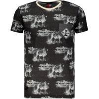 Camiseta Ecko Especial Estampada Masculina - Masculino-Preto