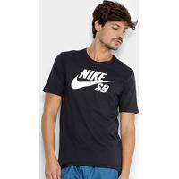 369d322f1651f Netshoes  Camiseta Nike Sb Logo Masculina - Masculino