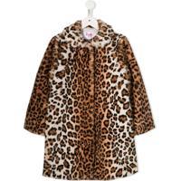 Il Gufo Casaco De Pelos Com Estampa De Leopardo - Marrom