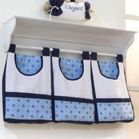 Porta Treco De Parede Padroeira Baby Miguel Azul Bebê