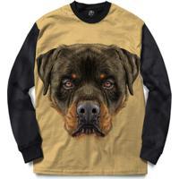 Blusa Bsc Rottweiler Dog Full Print - Masculino-Preto