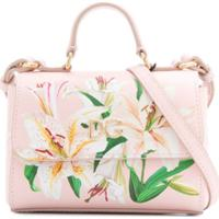 Dolce & Gabbana Kids Bolsa Tiracolo Com Estampa Floral - Rosa