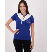 Camisa Cruzeiro Retrô 1943 Feminina - Feminino-Azul