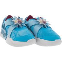 Tênis Frozen Tiras Azul