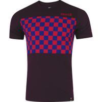 Camiseta Barcelona Trv Crest Nike - Masculina - Vinho