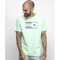 Camiseta Hurley Silk Radio Masculina - Masculino-Verde Claro