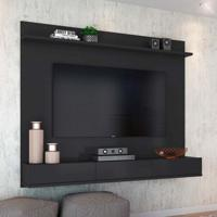 Painel Para Tv 60 Polegadas Winterfel Preto Acetinado 180 Cm