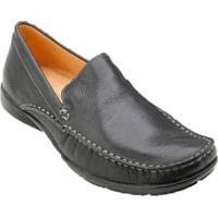 Sapato Casual Para Pés Largos Mocassim Sandro & Co. Kyler (Dillon) Masculino - Masculino-Preto