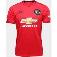 Camisa Manchester UnitedHome 19/20 S/N° Torcedor Adidas Masculina - Masculino