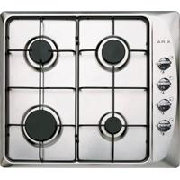 Cooktop Arix Gás Lateral 60Cm Stop Inox Arix