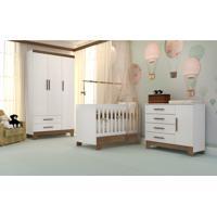 Dormitório Retrô Branco Fosco Carolina Baby