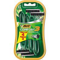 Barbeador Descartável Bic Comfort 3 Sensitive Com 4 Unidades 4 Unidades