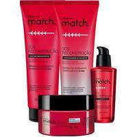 Combo Match Sos Reconstrução: Shampoo + Condicionador + Máscara + Óleo Capilar