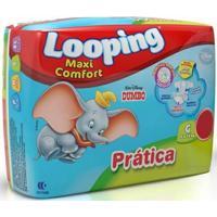 Fralda Descartável Looping Disney Maxi Fort Prática Grande 18 Unidades - Unissex-Incolor