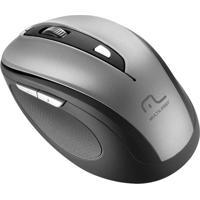 Mouse Sem Fio Comfort Usb Cinza E Preto Mo238 Multilaser