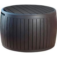 Bau Circular Circa Wood Box Keter Marrom