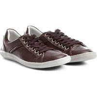 Sapatênis Couro Shoestock Pespontos Masculino - Masculino