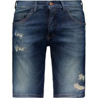 Bermuda Jeans Hd Slim Azul