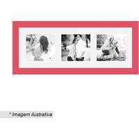 Painel Multifotos Insta- Vermelho & Branco- 15X38X1,Kapos