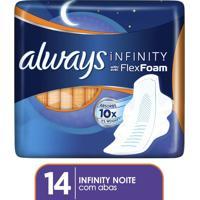 Absorvente Always Infinity Noturno 14 Unidades