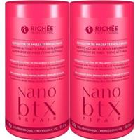 Kit Richée Nano Btx Repair Repositor De Massa Máscara 2X1Kg - Feminino-Incolor