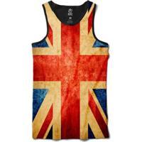 Regata Bsc Bandeira Grã-Bretanha Masculina - Masculino-Vermelho+Branco