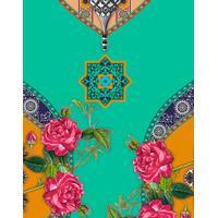 Saia Cintura Alta Estampada Mesquita - Lez A Lez