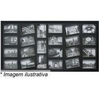 Painel Para 23 Fotos- Preto- 50X100X3Cm- Kaposkapos