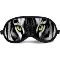 Máscara De Dormir Tritengo Olhos Tigre - Unissex-Preto+Branco