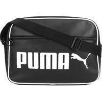 Bolsa Puma Campus Retrô - Unissex-Preto