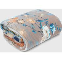 Cobertor Dupla-Face Casal Jolitex Com Sherpa Stresa Azul/Off-White - Azul - Dafiti