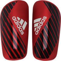 Caneleira De Futebol Adidas X Pro - Adulto - Vermelho/Preto