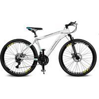 Bicicleta Kyklos Aro 26 Kivnon 8.5 Freio A Disco A-36 21V Branco/Azul