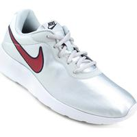 9b5a3e7cba ... Tênis Nike Tanjun Se Feminino - Feminino-Prata+Vermelho