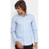 1fd97e3842f9f Netshoes  Camisa Xadrez Lacoste Slim Fit Masculina - Masculino