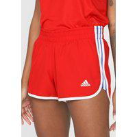 Short Adidas Performance M20 Vermelho/Branco