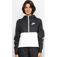 Jaqueta Nike Nsw Jkt Wvn Core Feminina - Feminino-Preto+Branco