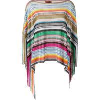 Missoni Multicoloured Striped Poncho - Green