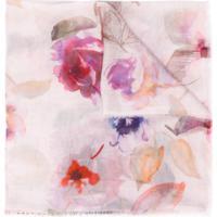 Faliero Sarti Fringed Floral Scarf - Rosa
