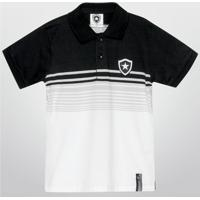 Camisa Polo Botafogo Juvenil Fio Tinto - Unissex