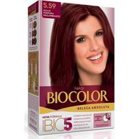 Tintura Biocolor Coloração Creme Acaju Púrpura 5.59 Mini Kit