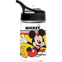 Garrafa Plástica Disney Mickey | Cor: Preto