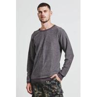 Sweater Armadillo Raglan Invertido Masculino - Masculino-Marrom