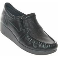 Sapato Usaflex Relax Comfort Feminino - Feminino-Preto